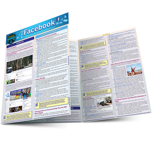 Quick Study QuickStudy Facebook Laminated Reference Guide BarCharts Publishing Social Media Reference Main Image