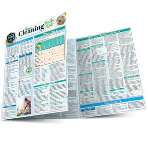 Quick Study QuickStudy Home Cleaning Inside & Out Laminated Reference Guide BarCharts Publishing Home Lifestyle Outline Main Image