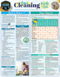 Quick Study QuickStudy Home Cleaning Inside & Out Laminated Reference Guide BarCharts Publishing Home Lifestyle Outline Cover Image