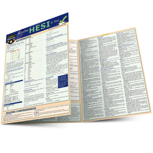 QuickStudy | Nursing HESI A2 Laminated Reference Guide