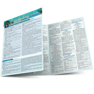Quick Study QuickStudy Medical Coding ICD-10-CM Laminated Reference Guide BarCharts Publishing Medical Career Outline Main Image