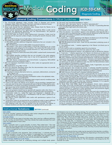 Quick Study QuickStudy Medical Coding ICD-10-CM Laminated Reference Guide BarCharts Publishing Medical Career Outline Cover Image