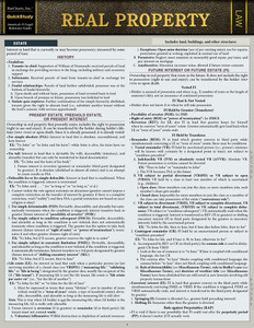 QuickStudy   Real Property Laminated Reference Guide