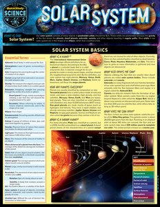Quick Study QuickStudy Solar System Laminated Study Guide BarCharts Publishing Astronomy Science Reference Cover Image
