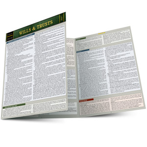 QuickStudy | Wills & Trusts Laminated Reference Guide
