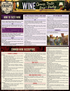 Quick Study QuickStudy Wine: Choose, Taste, Pair & Party Laminated Reference Guide BarCharts Publishing Food &Beverage Lifestyle Outline Cover Image