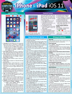 QuickStudy | iPhone & iPad iOS 11 Laminated Reference Guide