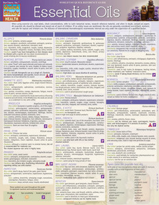 QuickStudy Quick Study Essential Oils Laminated Reference Guides Health BarCharts Publishing Guide Cover Image