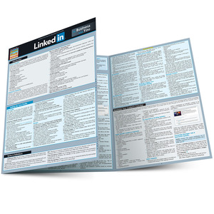 Quick Study QuickStudy LinkedIn For Business & You Laminated Reference Guide BarCharts Publishing Social Media Networking Reference Main Image