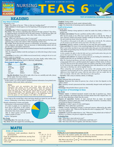 QuickStudy | Nursing TEAS 6 Laminated Study Guide