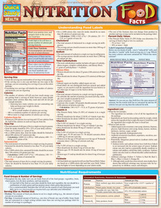 Quick Study QuickStudy Nutrition Food Facts Laminated Reference Guide BarCharts Publishing Health Guide Cover Image