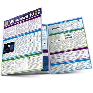 QuickStudy Quick Study Microsoft Windows 10 Laminated Reference Guide Main Image