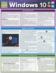 QuickStudy Quick Study Microsoft Windows 10 Laminated Reference Guide Front Image