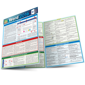 QuickStudy | Microsoft Word 2016 Laminated Reference Guide