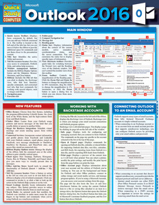 Quick Study QuickStudy Microsoft Outlook 2016 Laminated Reference Guide BarCharts Publishing Business Productivity Software Outline Cover Image