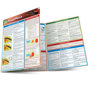 Quick Study QuickStudy Microsoft Powerpoint 2016: Tips & Tricks Laminated Reference Guide BarCharts Publishing Business Productivity Software Outline Main Image