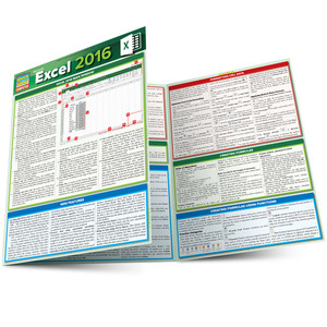 QuickStudy Quick Study Microsoft Excel 2016 Laminated Reference Guide Main Image