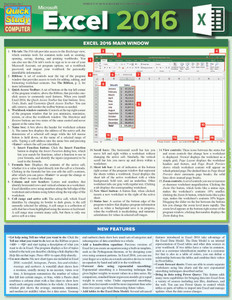 QuickStudy Quick Study Microsoft Excel 2016 Laminated Reference Guide Front Image