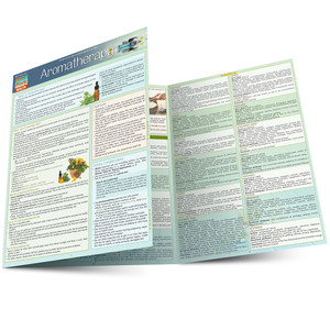 Quick Study QuickStudy Aromatherapy Laminated Reference Guide BarCharts Publishing Alternative Health Outline Main Image