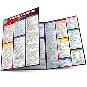 QuickStudy Quick Study Organic Chemistry Reactions Laminated Study Guide BarCharts Publishing Main Image
