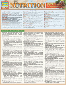 QuickStudy | Nutrition: Superfoods & Supplements Laminated Reference Guide