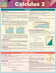 QuickStudy   Calculus 2 Laminated Study Guide