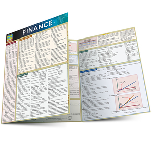 Quick Study QuickStudy Finance Laminated Study Guide BarCharts Publishing Business Reference Guide Main Image