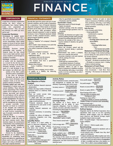 Quick Study QuickStudy Finance Laminated Study Guide BarCharts Publishing Business Reference Guide Cover Image
