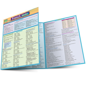 Quick Study QuickStudy French Verbs Laminated Study Guide BarCharts Publishing Foreign Languages Main Image