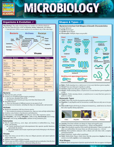 QuickStudy Quick Study Microbiology Laminated Study Guide BarCharts Publishing Science Study Guides Cover Image