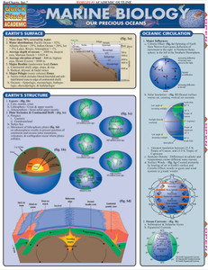 Quick Study QuickStudy Marine Biology Laminated Study Guide BarCharts Publishing Academic Reference Guide Cover Image