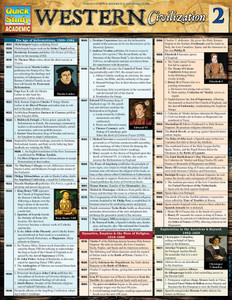 QuickStudy | Western Civilization 2 Laminated Study Guide
