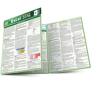 Quick Study QuickStudy Excel 2016 Advanced Laminated Reference Guide BarCharts Publishing Business Software Reference Main Image