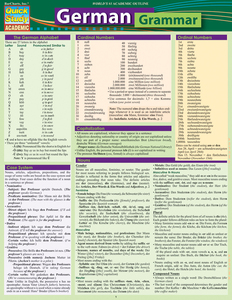 QuickStudy Quick Study German Grammar Laminated Study Guide BarCharts Publishing Foreign Languages Cover Image