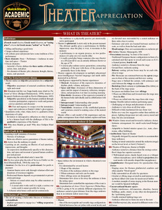 QuickStudy | Theater Appreciation Laminated Reference Guide