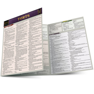 QuickStudy | Torts Laminated Study Guide