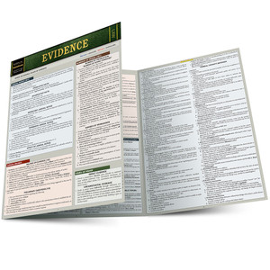 QuickStudy | Evidence Laminated Study Guide