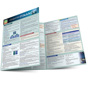 Quick Study QuickStudy Corporate Finance Laminated Study Guide BarCharts Publishing Business Guide Main Image