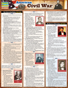 Quick Study QuickStudy American Civil War Laminated Study Guide BarCharts Publishing History Guide Cover Image