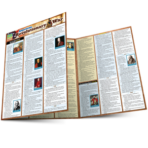 Quick Study QuickStudy American Revolutionary War Laminated Study Guide BarCharts Publishing Guide Main Image