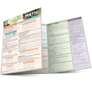 Quick Study QuickStudy Discrete Mathematics Laminated Study Guide BarCharts Publishing Math Reference Main Image