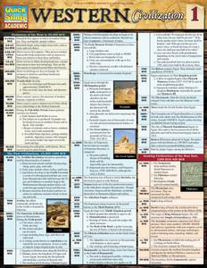 QuickStudy | Western Civilization 1 Laminated Study Guide