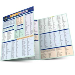 Quick Study QuickStudy Latin Vocabulary Laminated Study Guide BarCharts Publishing Foreign Language Reference Main Image