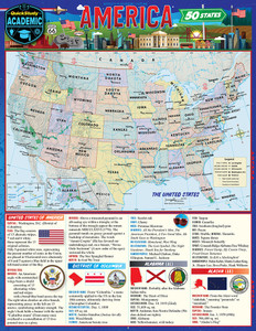 QuickStudy | America: 50 States Laminated Reference Guide