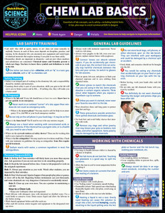 Quick Study QuickStudy Chem Lab Basics Laminated Study Guide BarCharts Publishing Science Reference Cover Image