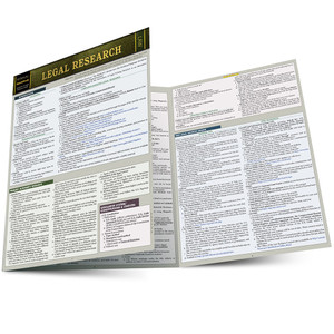 QuickStudy | Legal Research Laminated Study Guide