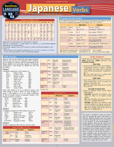 QuickStudy | Japanese Verbs Laminated Study Guide