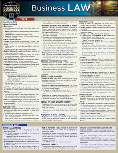 QuickStudy | Business Law Laminated Study Guide