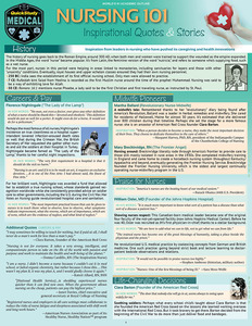 QuickStudy | Nursing 101: Inspirational Quotes & Stories Laminated Reference Guide