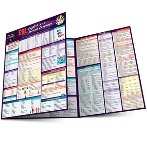 Quick Study QuickStudy ESL (English as a Second Language) Laminated Study Guide BarCharts Publishing Foreign Language Reference Main Image